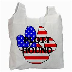 Plott Name Usa Flag Paw Recycle Bag (One Side)