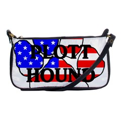 Plott Name Usa Flag Paw Shoulder Clutch Bags