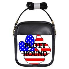 Plott Name Usa Flag Paw Girls Sling Bags
