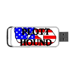 Plott Name Usa Flag Paw Portable USB Flash (Two Sides)