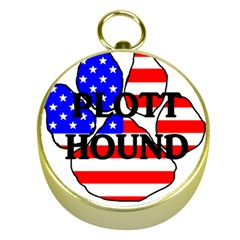 Plott Name Usa Flag Paw Gold Compasses