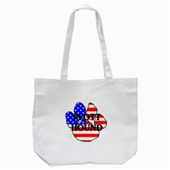 Plott Name Usa Flag Paw Tote Bag (White)