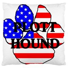 Plott Name Usa Flag Paw Standard Flano Cushion Case (One Side)