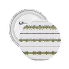 Ethnic Floral Stripes 2.25  Buttons