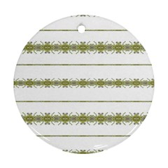 Ethnic Floral Stripes Ornament (Round)