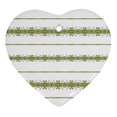 Ethnic Floral Stripes Ornament (Heart)
