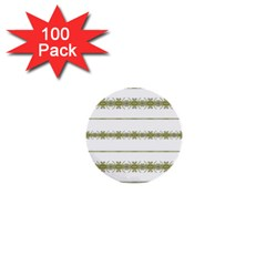 Ethnic Floral Stripes 1  Mini Buttons (100 pack)