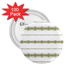 Ethnic Floral Stripes 2.25  Buttons (100 pack)