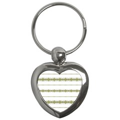 Ethnic Floral Stripes Key Chains (Heart)