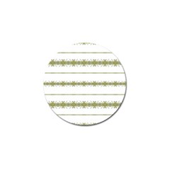 Ethnic Floral Stripes Golf Ball Marker (10 pack)