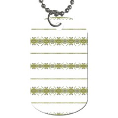 Ethnic Floral Stripes Dog Tag (Two Sides)