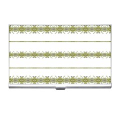 Ethnic Floral Stripes Business Card Holders