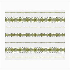 Ethnic Floral Stripes Small Glasses Cloth