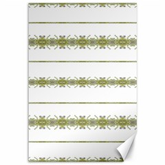 Ethnic Floral Stripes Canvas 12  x 18