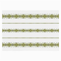Ethnic Floral Stripes Large Glasses Cloth