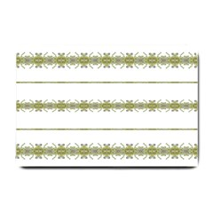 Ethnic Floral Stripes Small Doormat