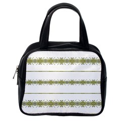 Ethnic Floral Stripes Classic Handbags (One Side)