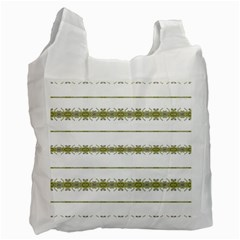 Ethnic Floral Stripes Recycle Bag (One Side)