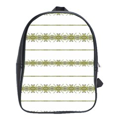 Ethnic Floral Stripes School Bags(Large)