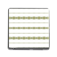 Ethnic Floral Stripes Memory Card Reader (Square)