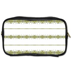Ethnic Floral Stripes Toiletries Bags