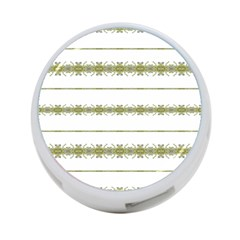 Ethnic Floral Stripes 4-Port USB Hub (Two Sides)