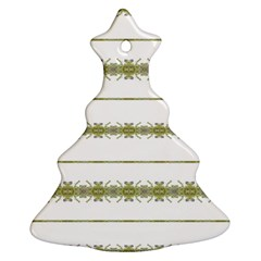 Ethnic Floral Stripes Christmas Tree Ornament (Two Sides)