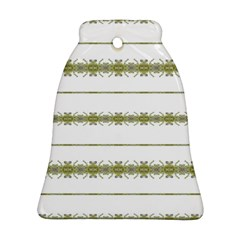 Ethnic Floral Stripes Bell Ornament (Two Sides)
