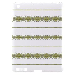 Ethnic Floral Stripes Apple iPad 3/4 Hardshell Case (Compatible with Smart Cover)