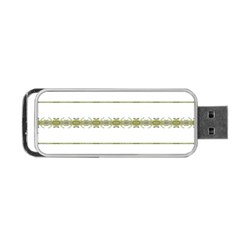 Ethnic Floral Stripes Portable USB Flash (Two Sides)
