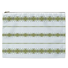 Ethnic Floral Stripes Cosmetic Bag (XXL)