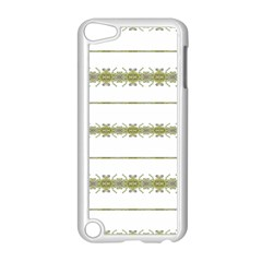 Ethnic Floral Stripes Apple iPod Touch 5 Case (White)