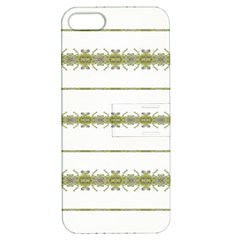 Ethnic Floral Stripes Apple iPhone 5 Hardshell Case with Stand