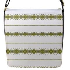 Ethnic Floral Stripes Flap Messenger Bag (S)