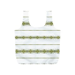 Ethnic Floral Stripes Full Print Recycle Bags (S)