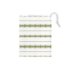Ethnic Floral Stripes Drawstring Pouches (Small)