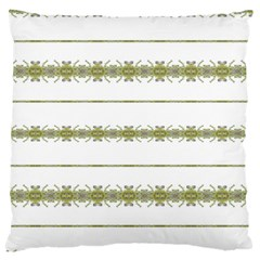 Ethnic Floral Stripes Large Flano Cushion Case (One Side)