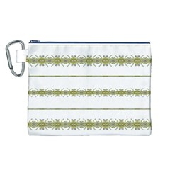 Ethnic Floral Stripes Canvas Cosmetic Bag (L)