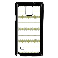 Ethnic Floral Stripes Samsung Galaxy Note 4 Case (Black)