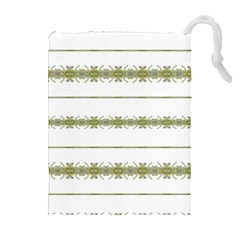 Ethnic Floral Stripes Drawstring Pouches (Extra Large)
