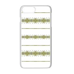Ethnic Floral Stripes Apple Iphone 7 Plus White Seamless Case