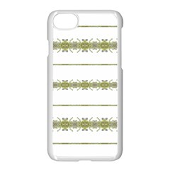 Ethnic Floral Stripes Apple iPhone 7 Seamless Case (White)