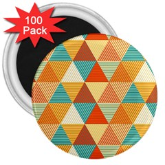 Triangles Pattern  3  Magnets (100 pack)