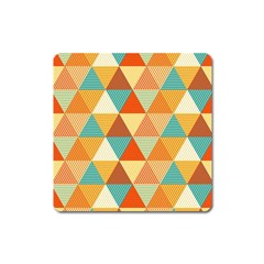 Triangles Pattern  Square Magnet