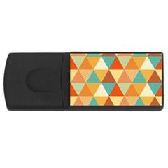 Triangles Pattern  USB Flash Drive Rectangular (1 GB)