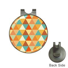 Triangles Pattern  Hat Clips with Golf Markers