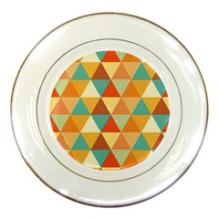 Triangles Pattern  Porcelain Plates
