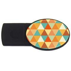 Triangles Pattern  USB Flash Drive Oval (4 GB)