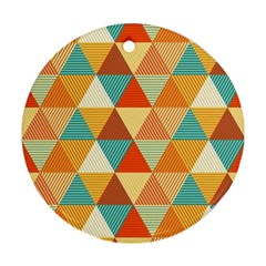 Triangles Pattern  Round Ornament (Two Sides)