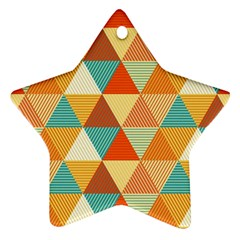 Triangles Pattern  Star Ornament (Two Sides)
